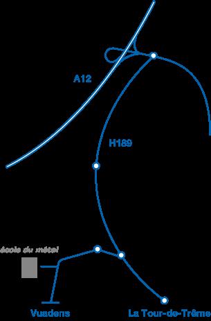 plan d'accès de l'école du métal